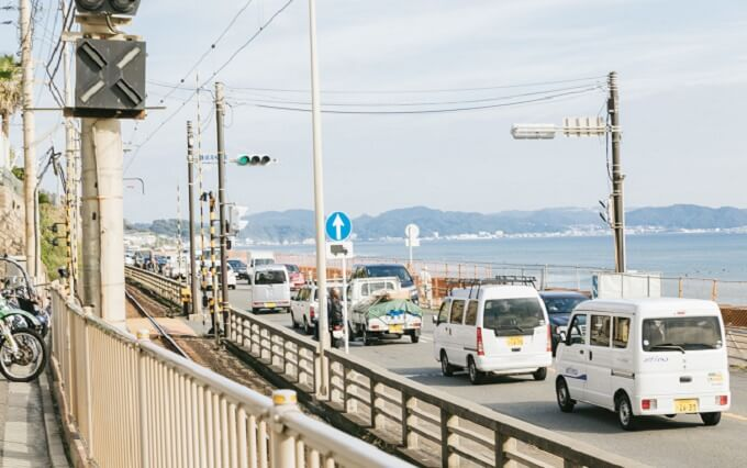 湘南の海岸沿い