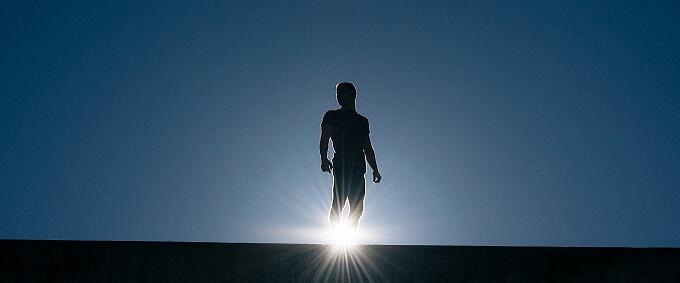 男性と太陽