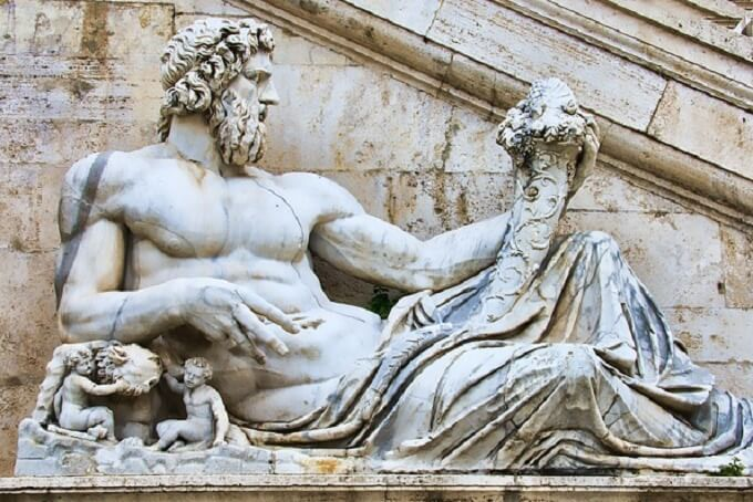 イタリアの彫像